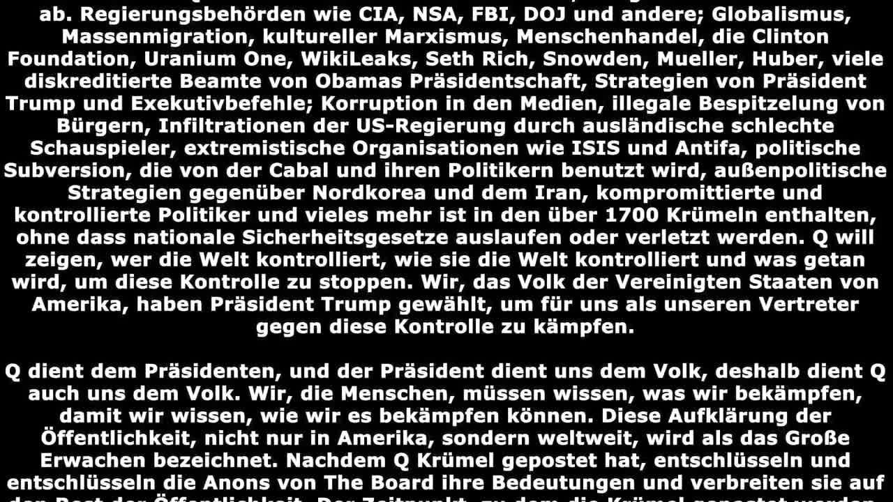 Q Basics - Grundlagen ber QAnon auf deutsch Teil 2/2